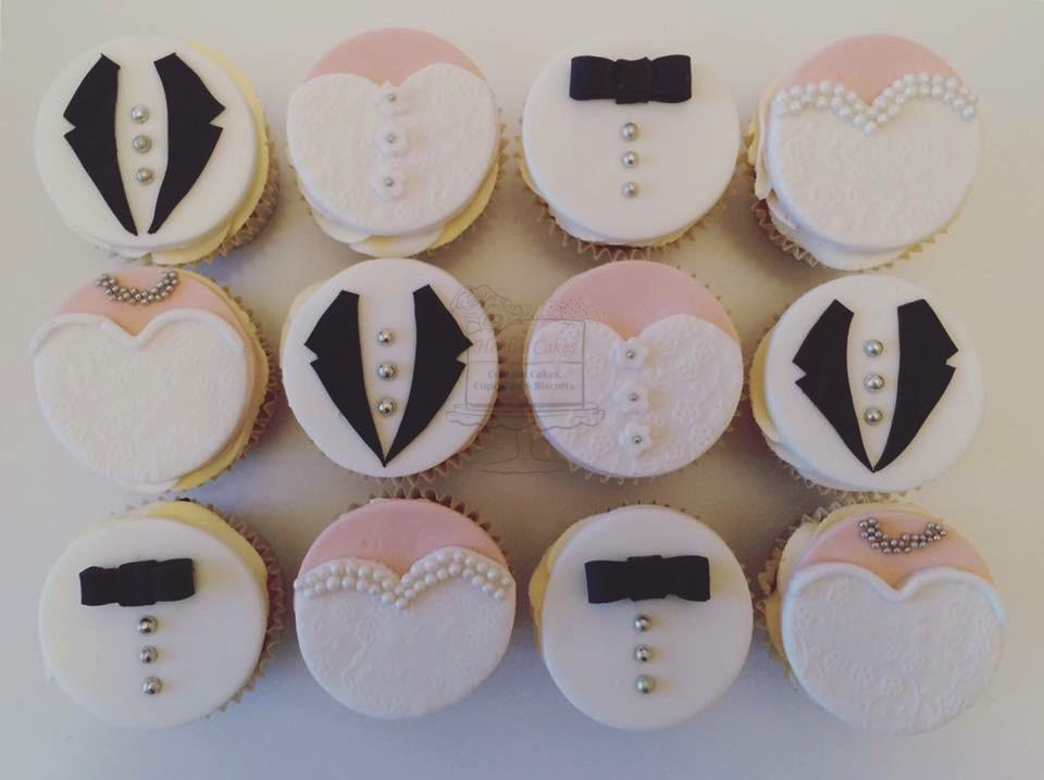 Bride/Groom Cupcakes