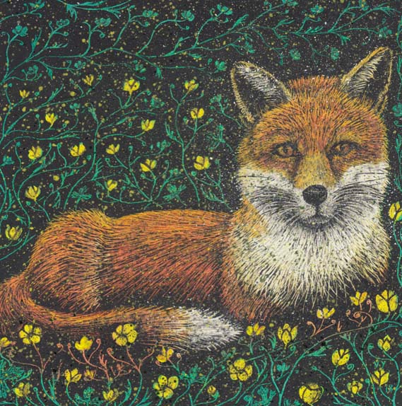 'Buttercup fox' card
