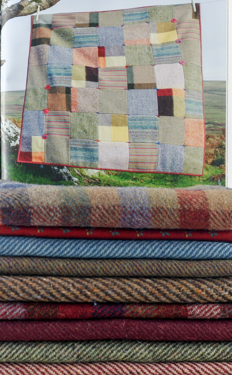 Donegal Tweed by Fabric Affair:Warm Heritage Quilt Kit