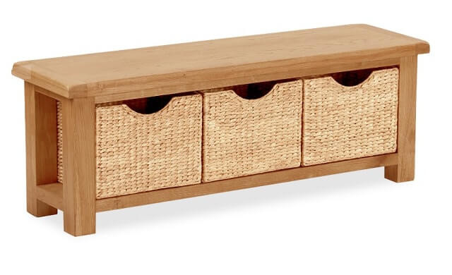 Somerset Bench with Baskets