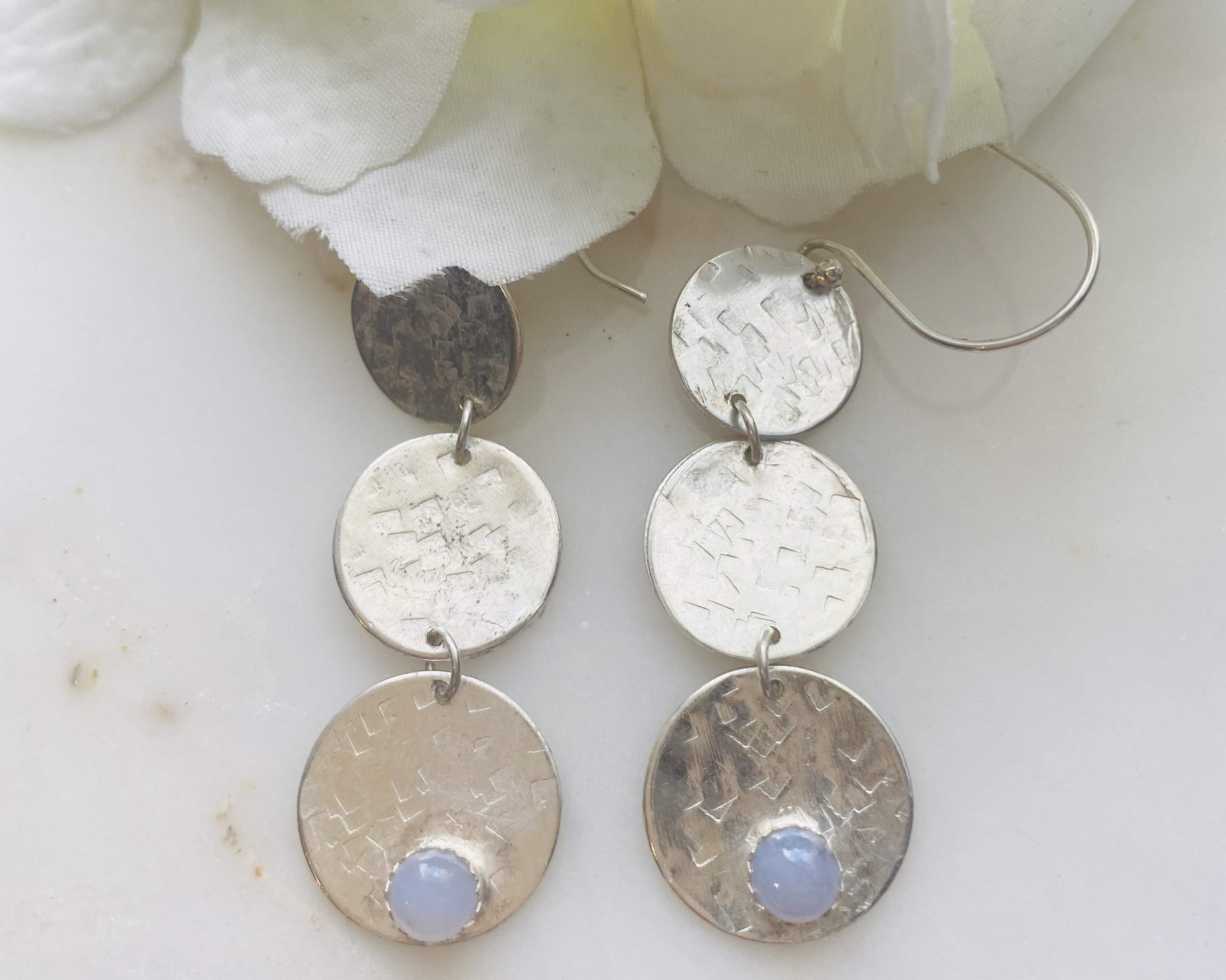 Agate Blue Lace earrings