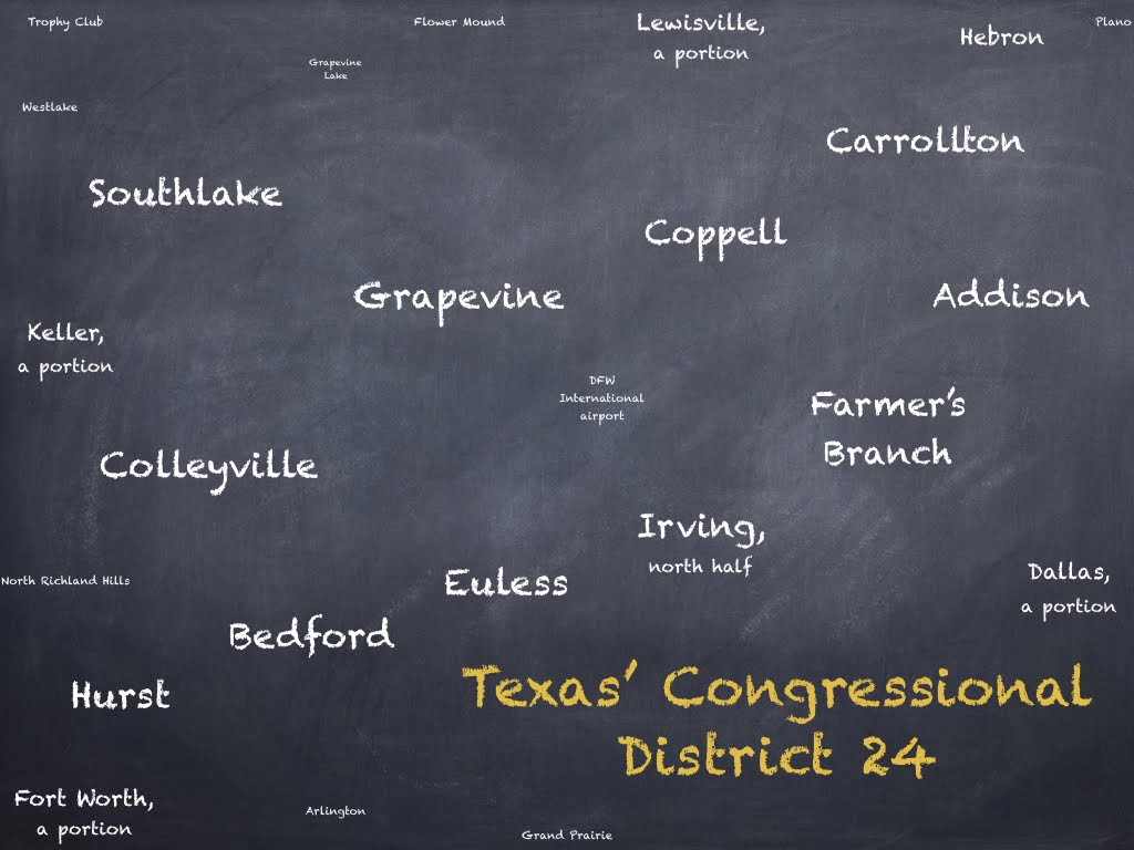 Texas' 24th Congressional District, U.S. House, map