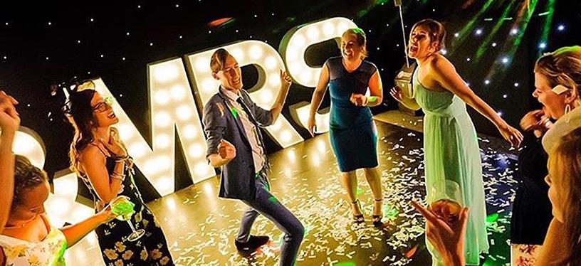 Wedding Disco Dance Floor (c) Scott Wood Photography