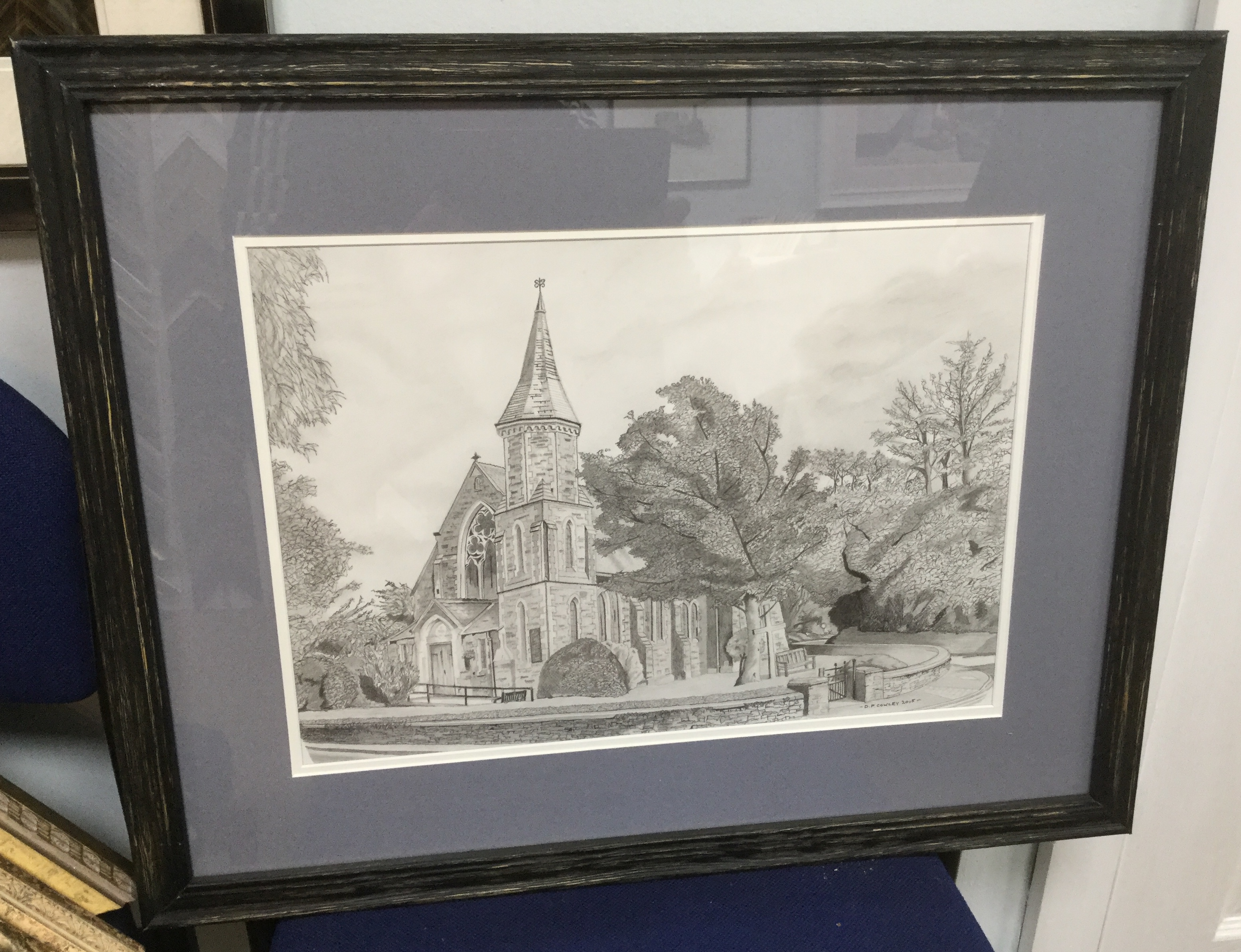 Sulby Church, Sulby, Isle Of Man in Pencil.