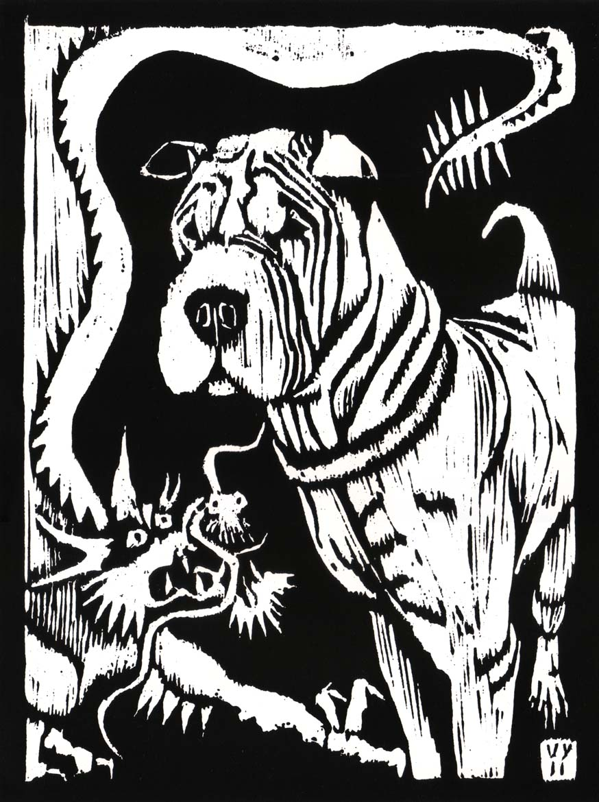 'Chi Chi and the Dragon' woodcut