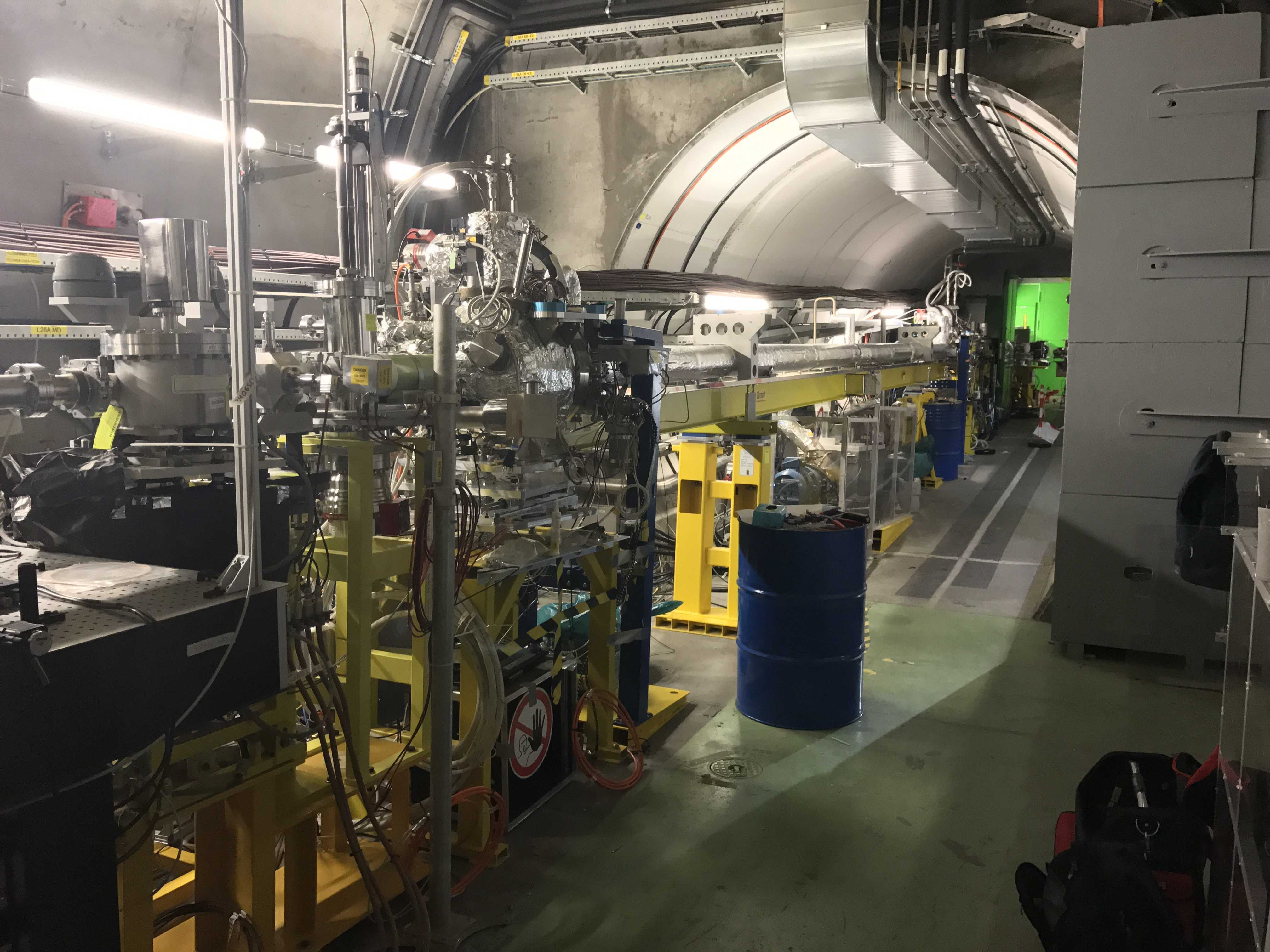 Photo of the AWAKE experiment beamline