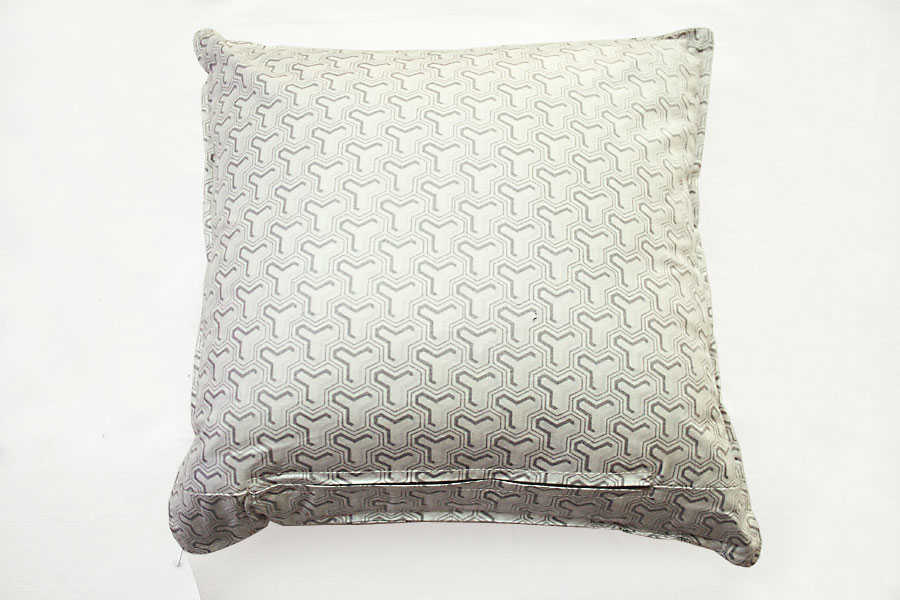 Chintz Grey On White Cushion