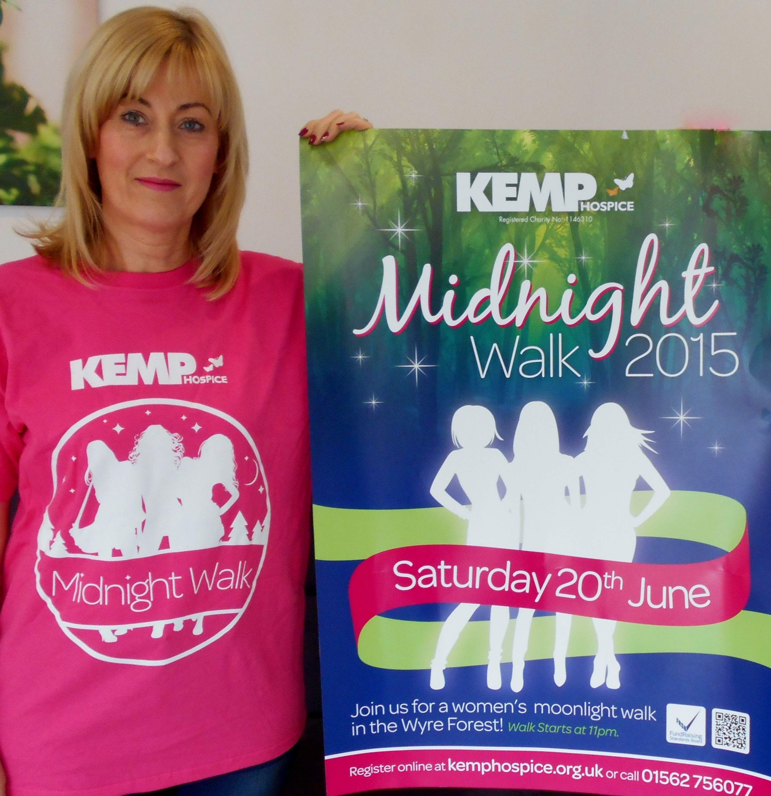 Mother and Daughter Walking in Celebration at KEMP Hospice Midnight Walk
