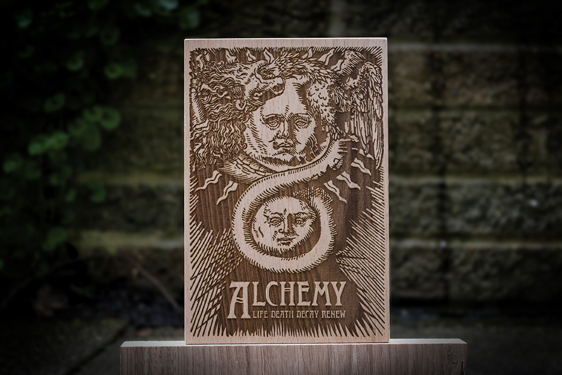 Alchemy Wooden Postcard