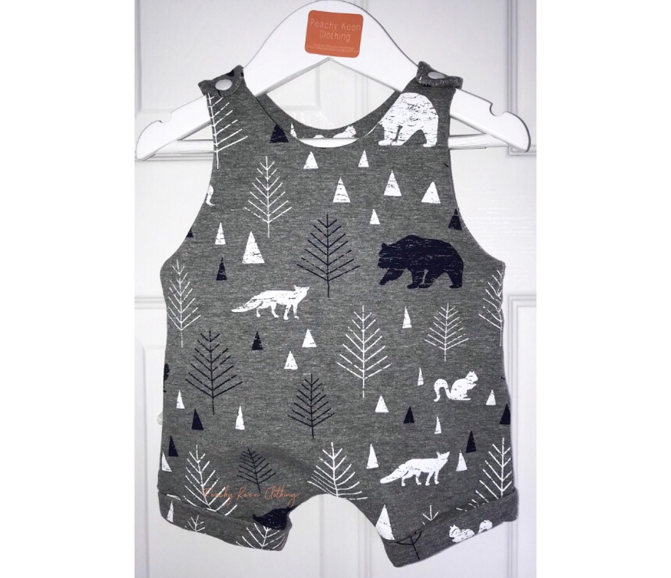 Grey Bear Short Romper