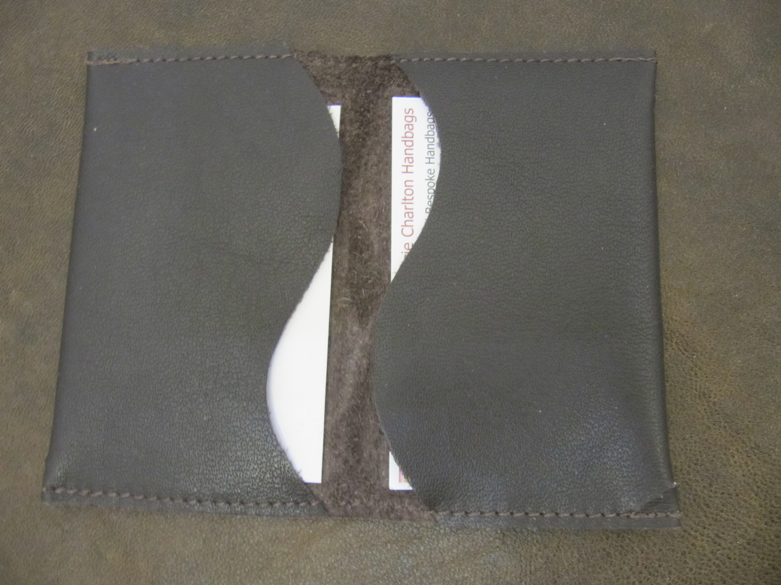 Leather Card Wallet - Brown