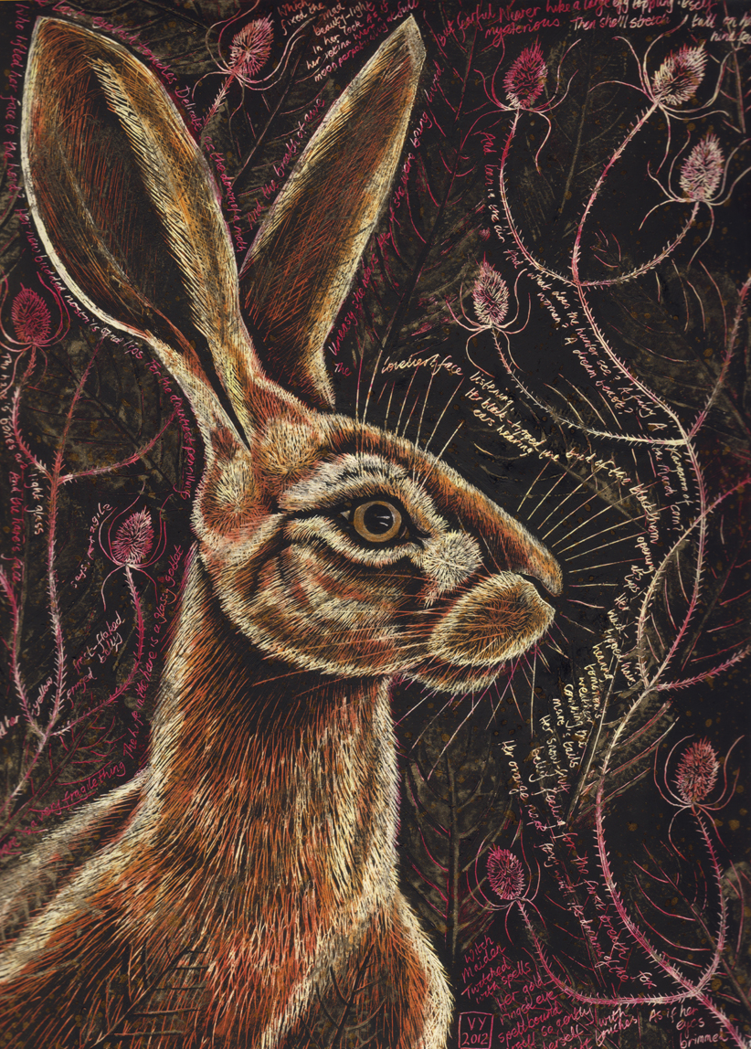 'Hare Enigma (male)' card