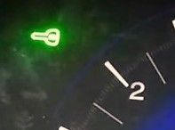 Honda warning light green key