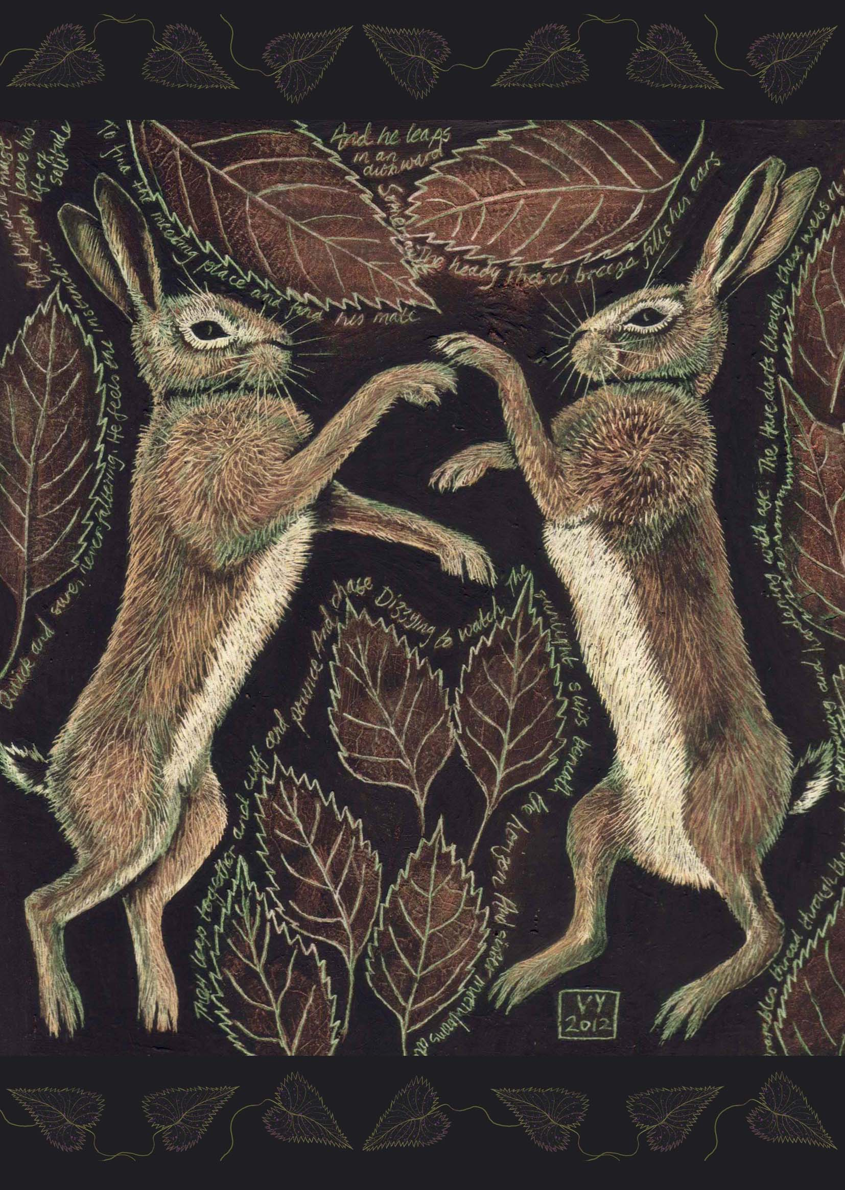 'March Hares' card