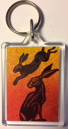 'Names of the Hare' keyring