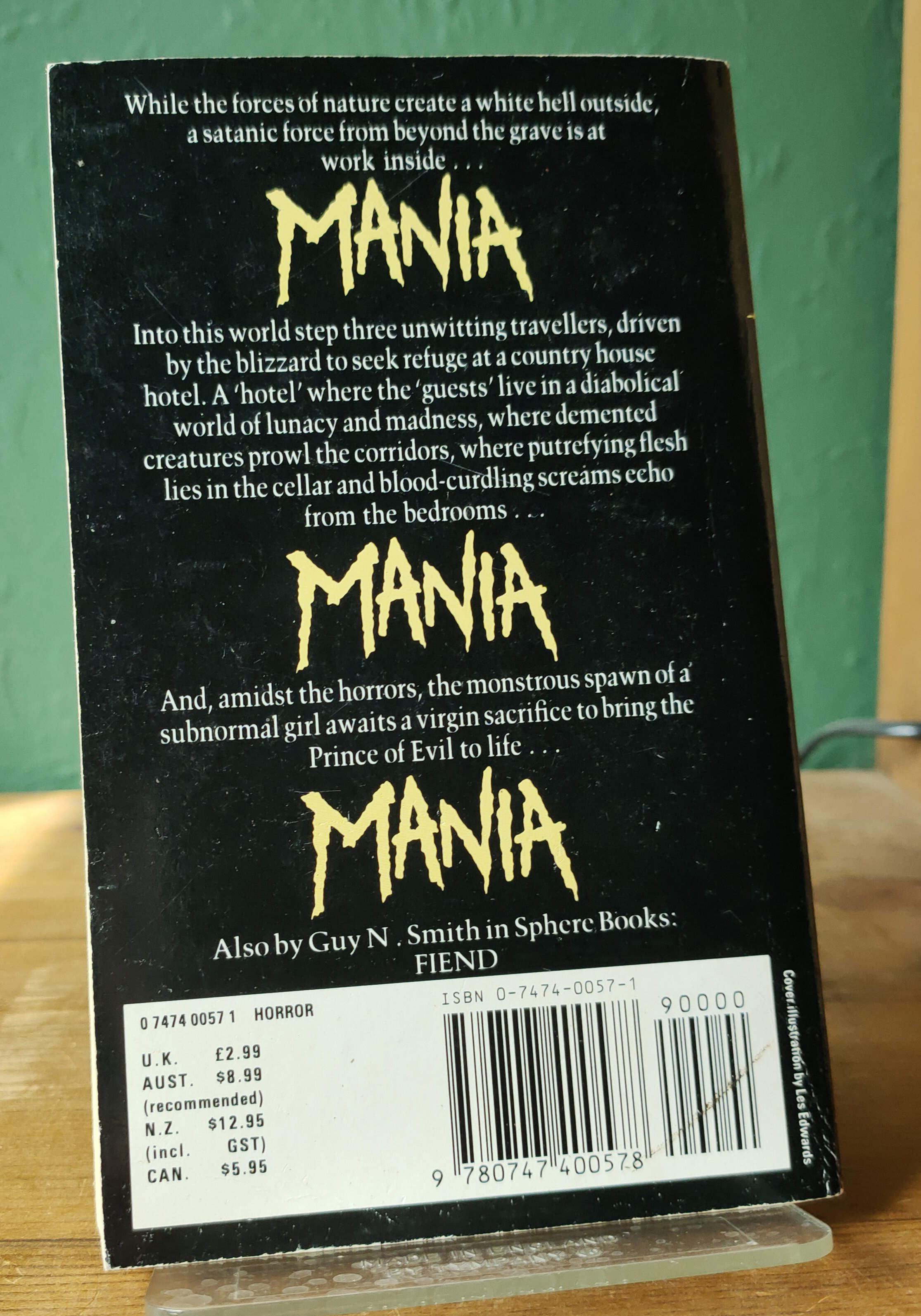 Mania Signed UK First Paperback