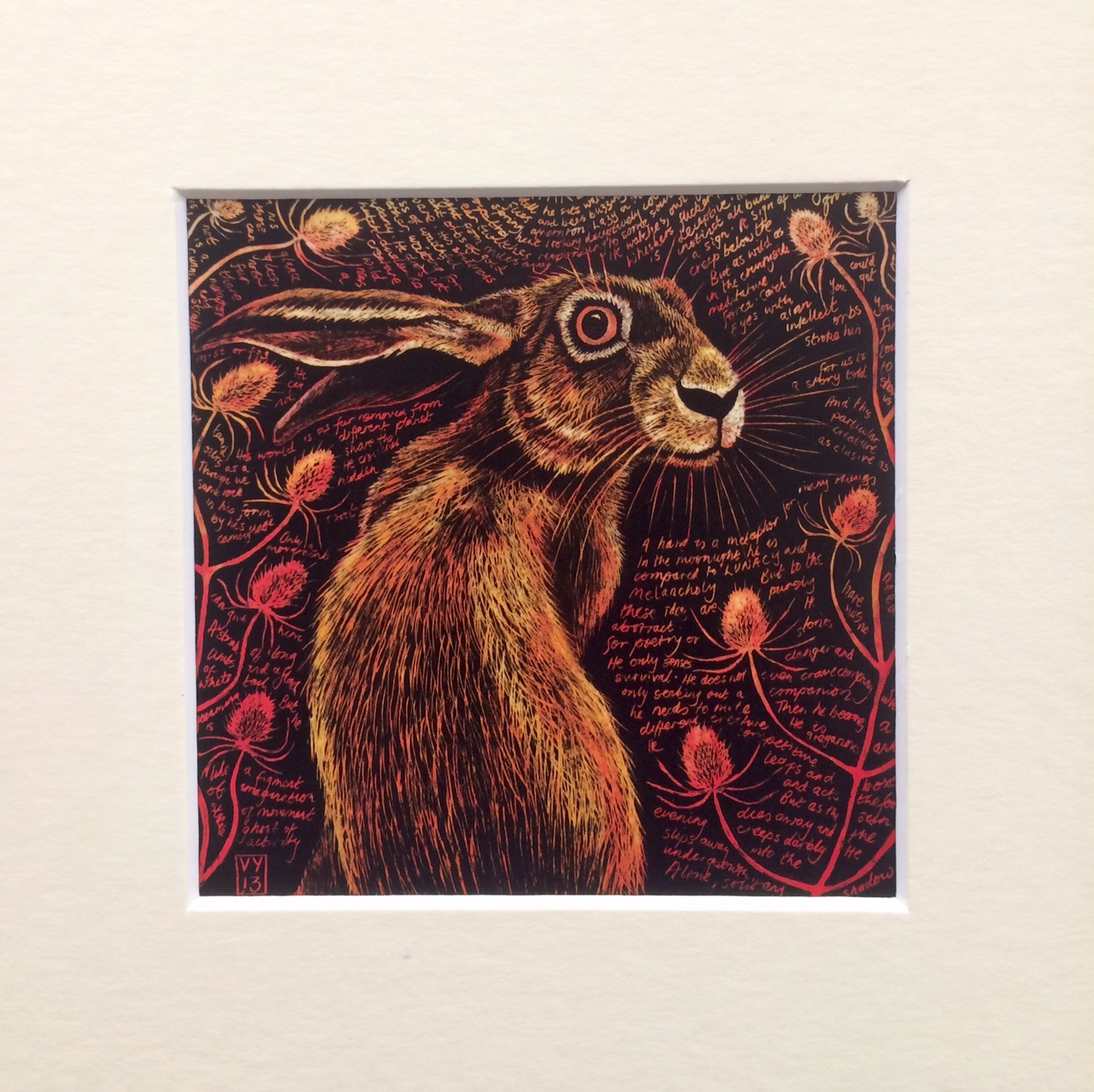 'Hartley' small mounted print