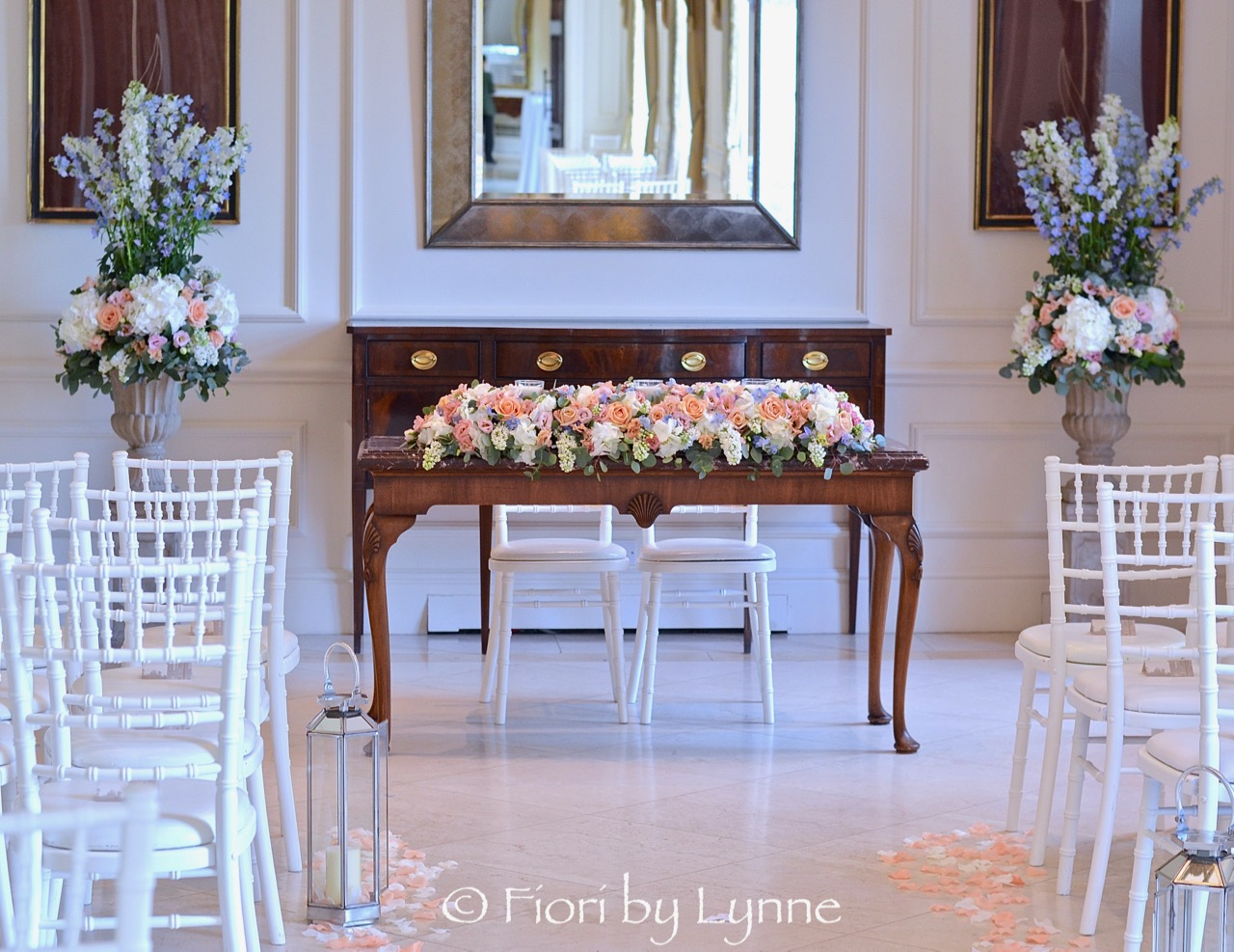 ceremony-flowers-urns+table-designs in summer peach,blue-white,pink.jpg