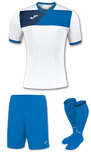 JOMA CREW II KIT- WHITE AND ROYAL