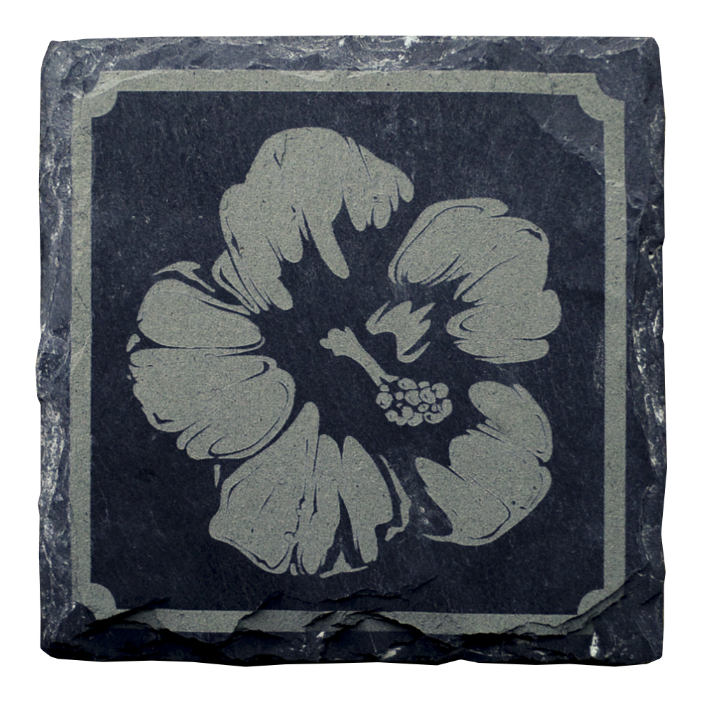 Wildflower set of 4 coasters (Slate)