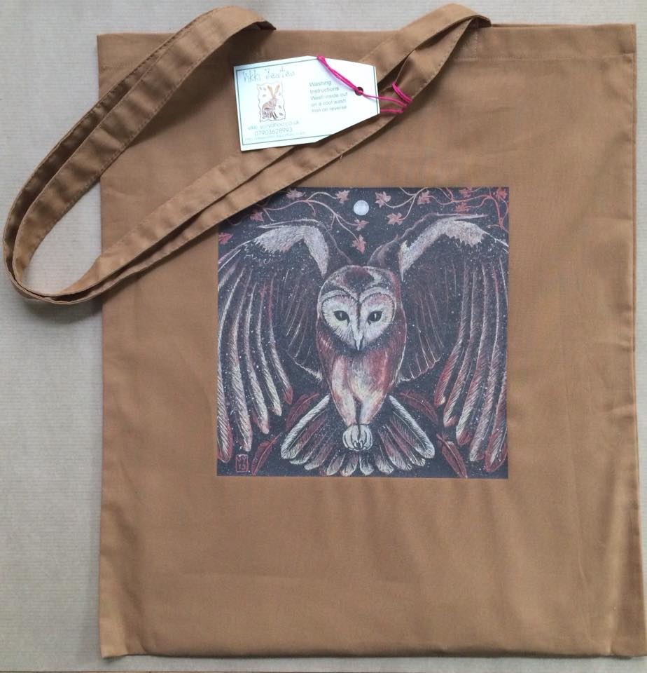 'Tawny Owl' cotton bag