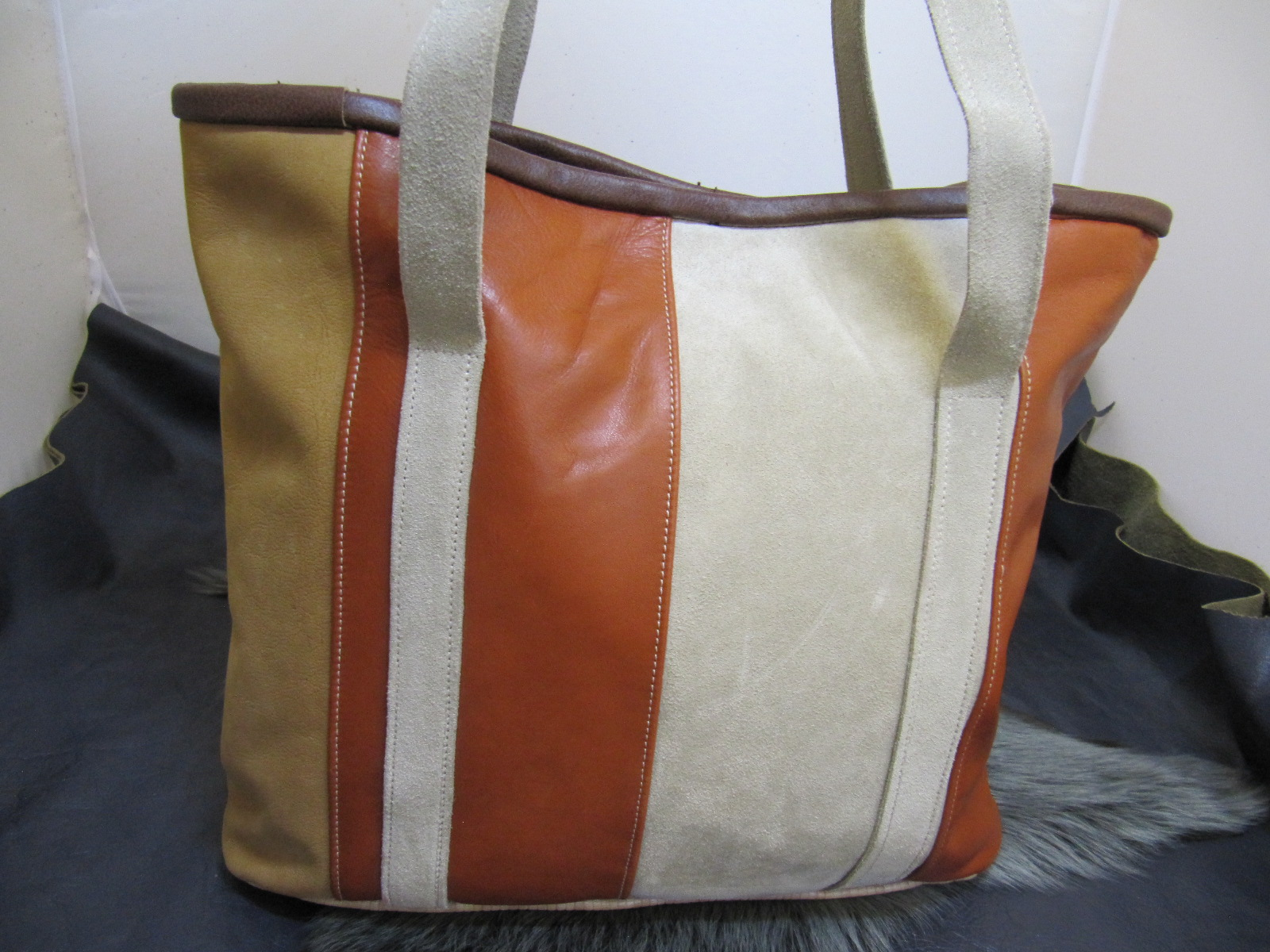 Leather Shopper with shoulder straps