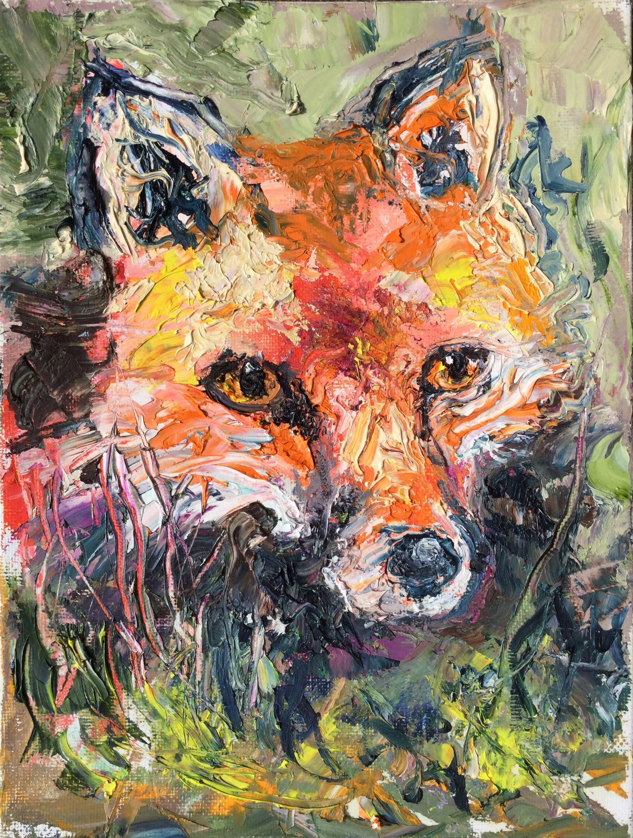 Portrait of a Fox (sold)