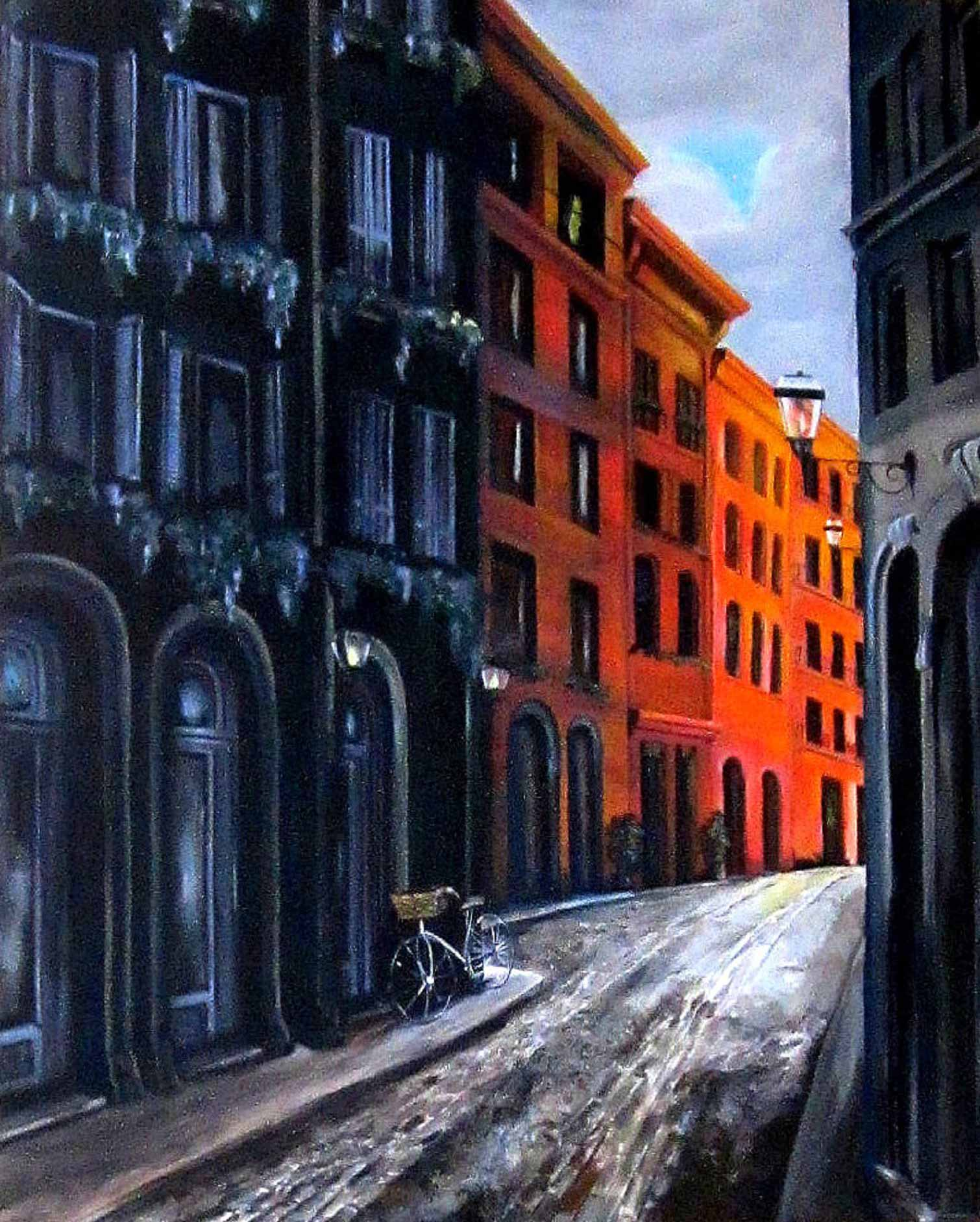"""Bicycle"", France, 48x84"