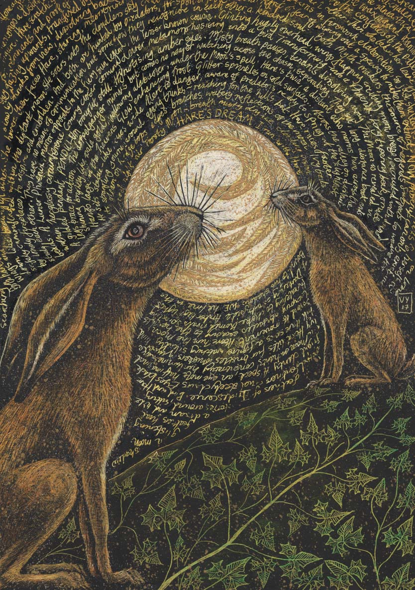 'Hare's Dream' mounted print