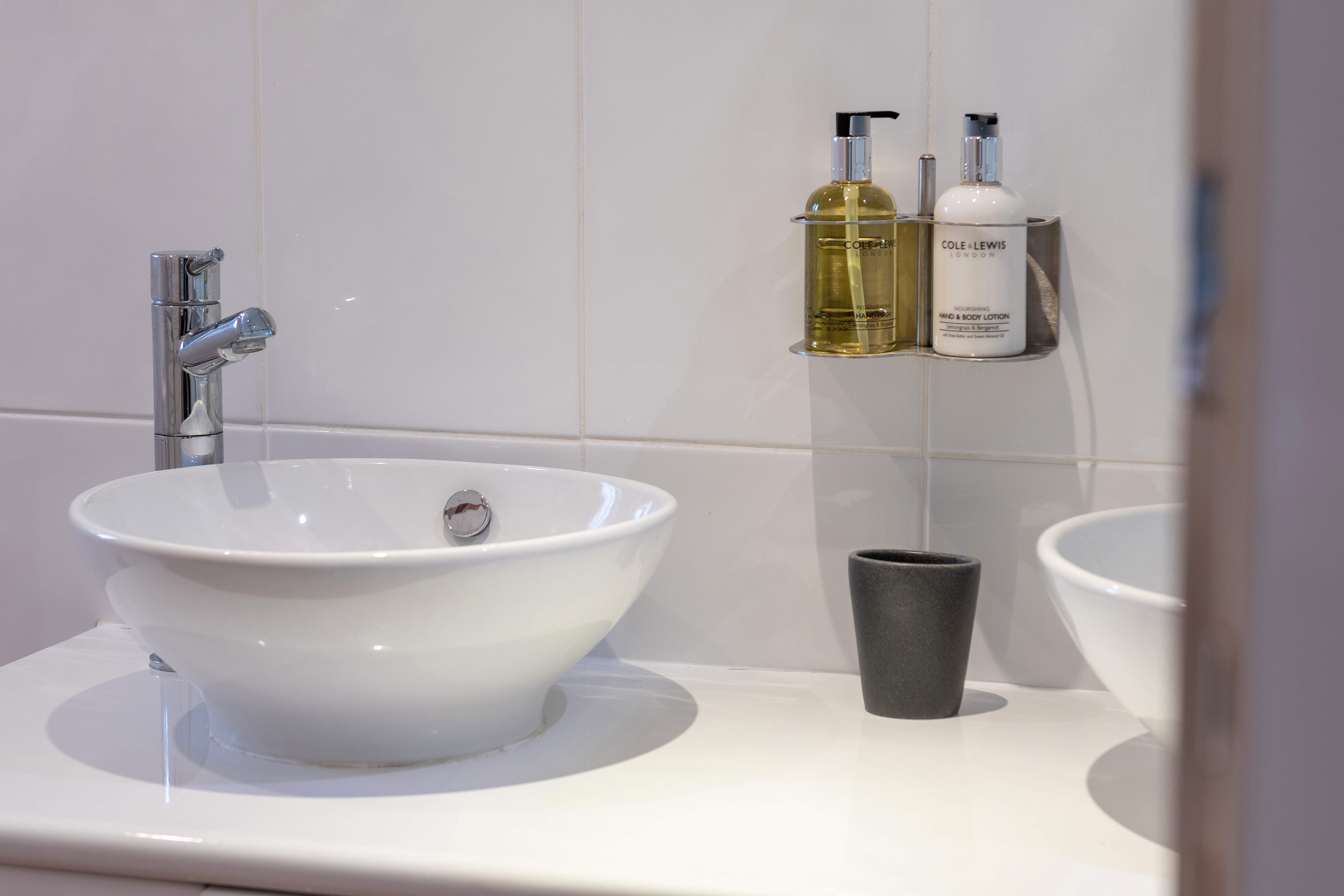 Cole & Lewis London toiletries complementary in each bathroom