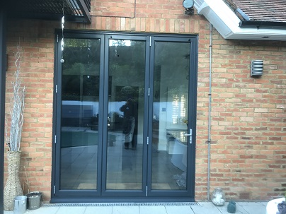 Fitted into extension Bifolding doors