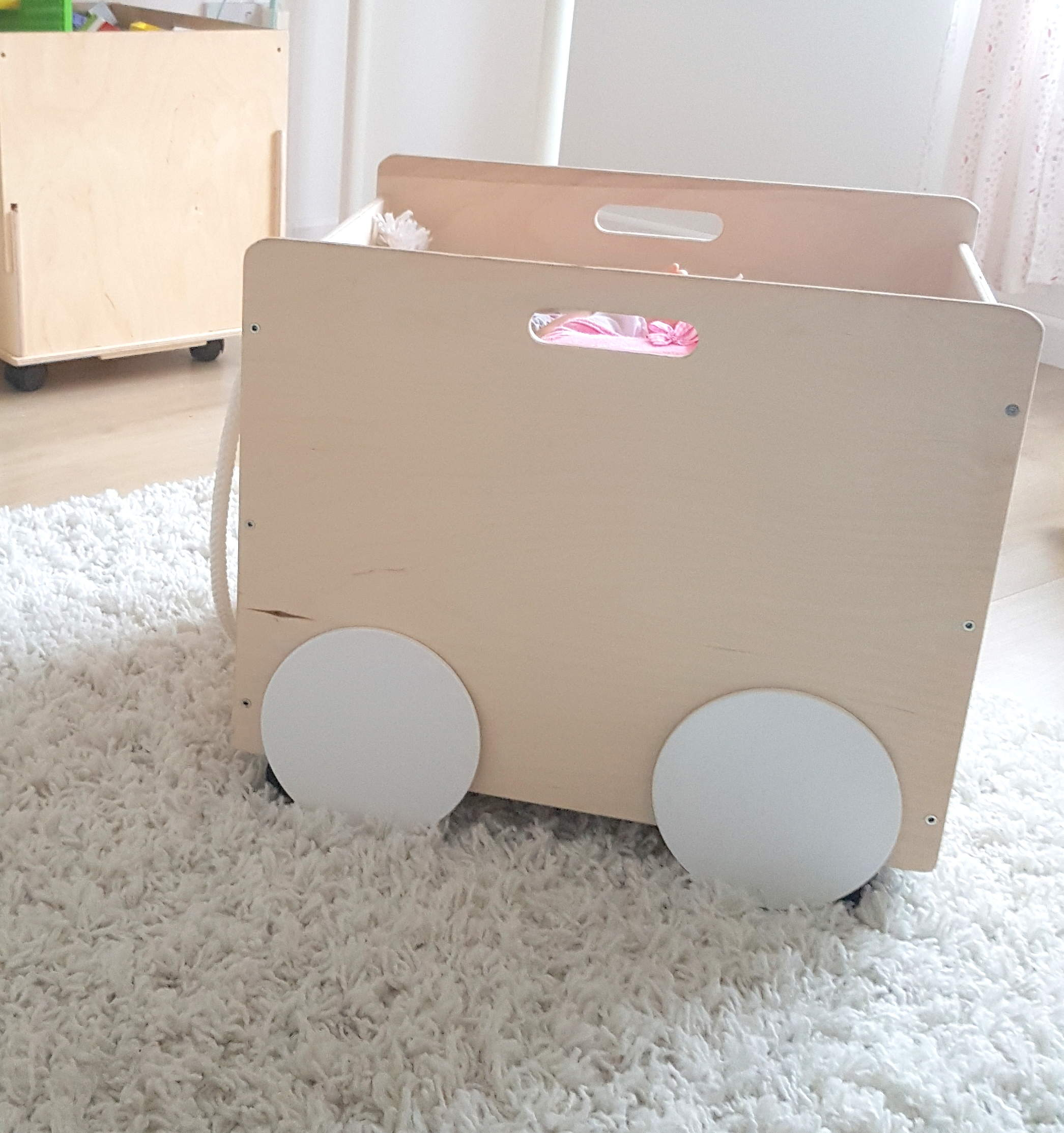 Wooden Storage Box on wheels