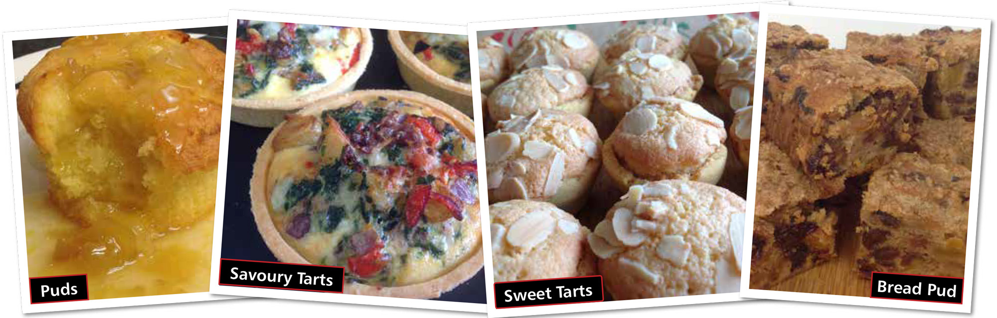 puddings and sweet and savoury tarts