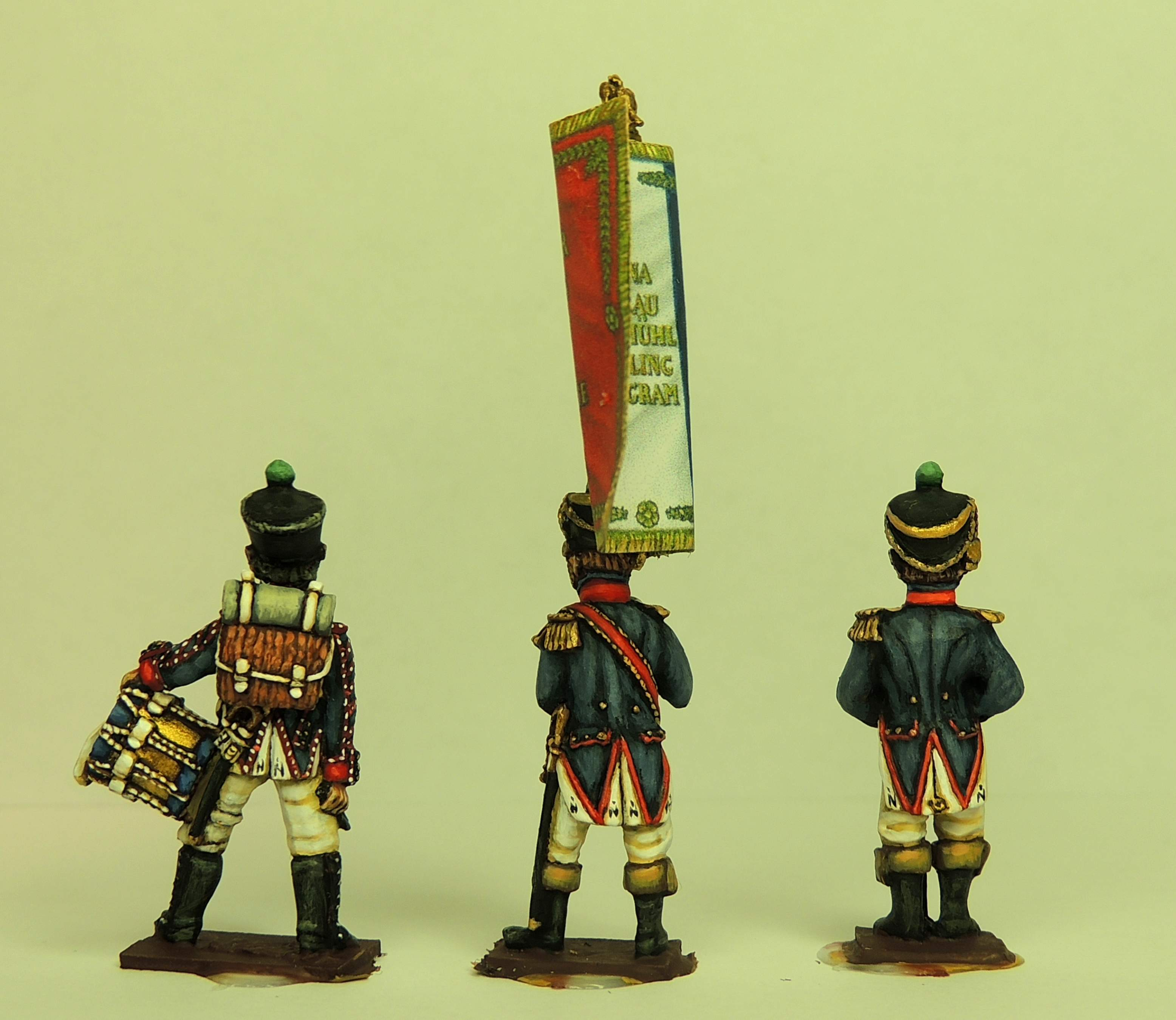 Waterloo French Fusilier Command In Full Dress