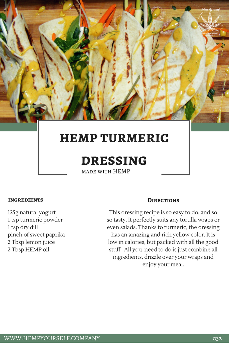 Hemp turmeric dressing