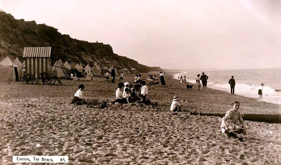 Corton Beach about 1885