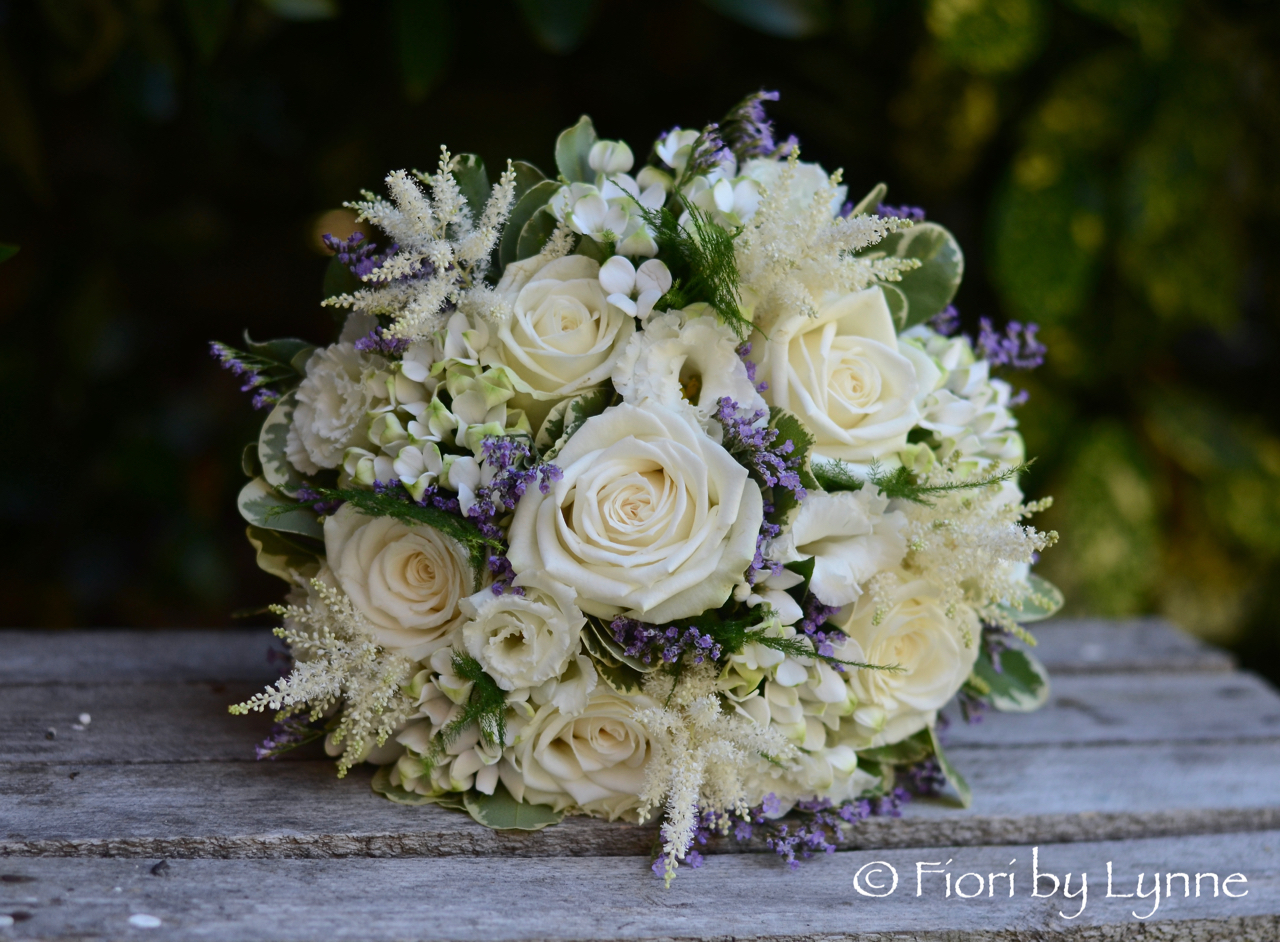 Mias Shabby Chic Lavender And White Wedding Flowers Burley Manor