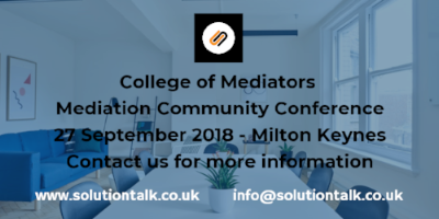 Solution Talk Mediation Community Conference