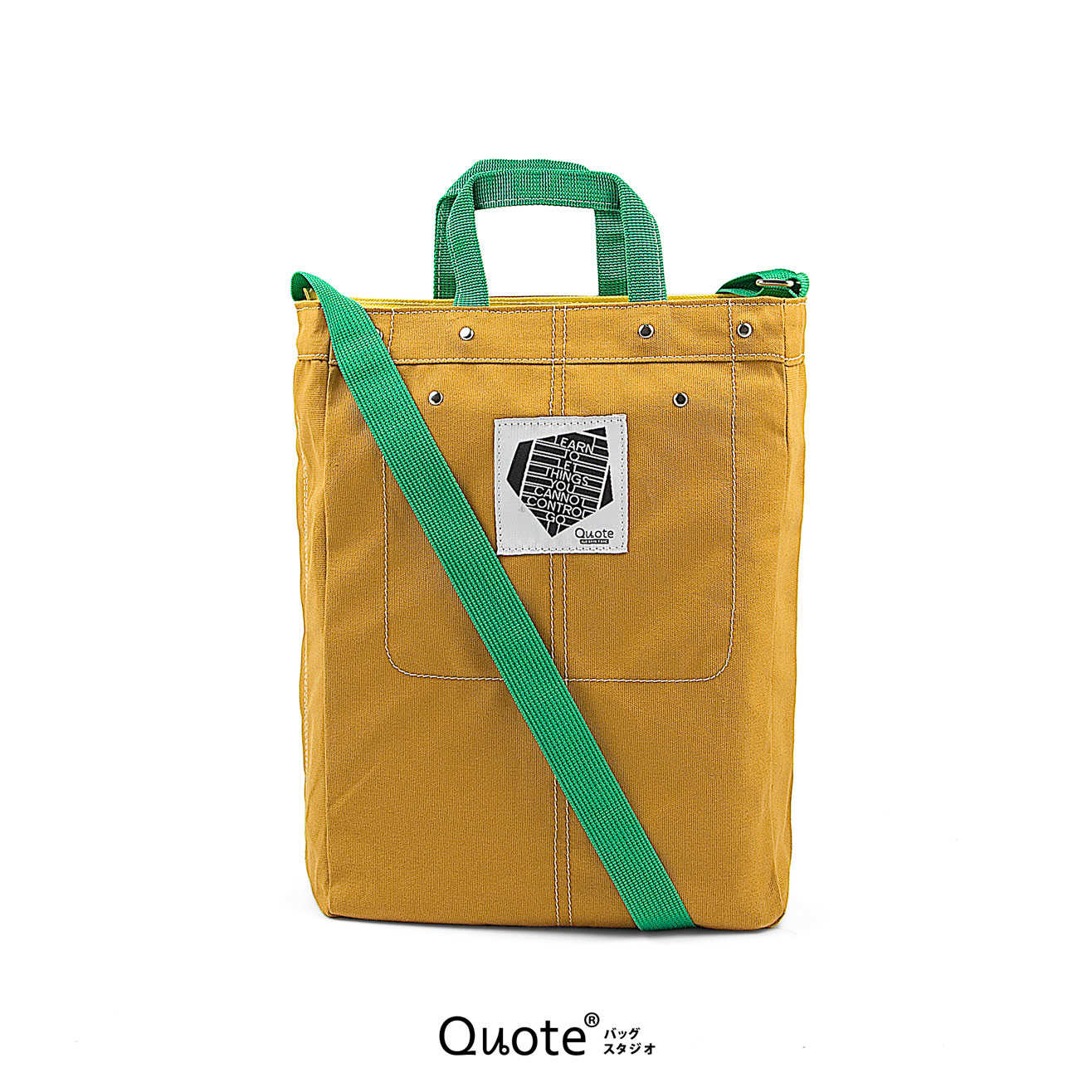 Coss-over bag # M Mustard/Green  || クロスボディバッグ