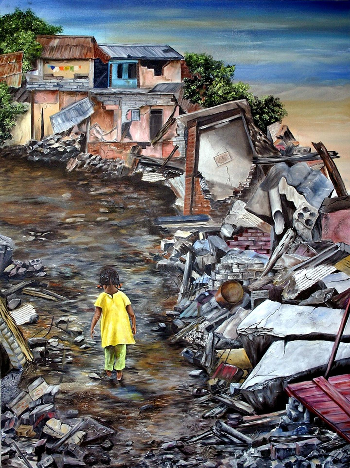 """Out of the Rubble - Hope"", Haiti, 18x24"