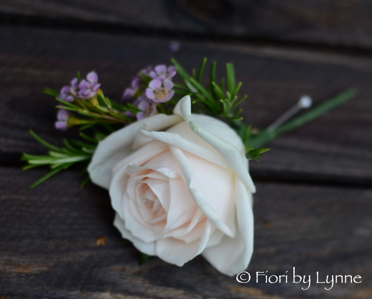 Buttonhole-rose,waxFlower+rosemary..jpg