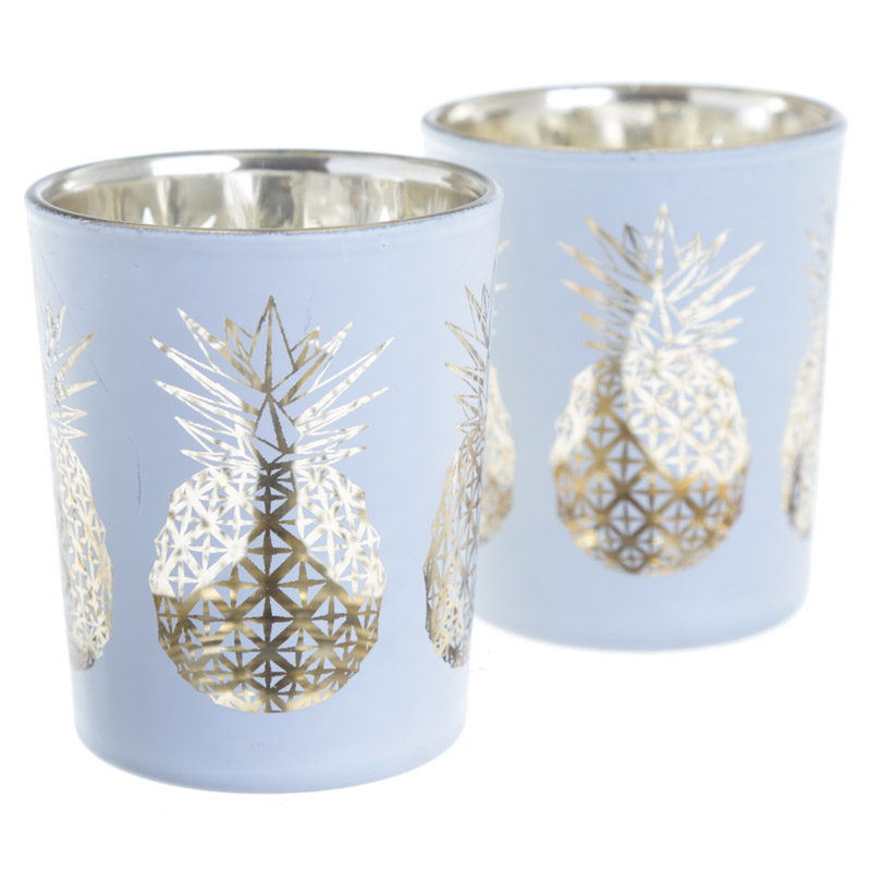 Tropical tea light holder gift set