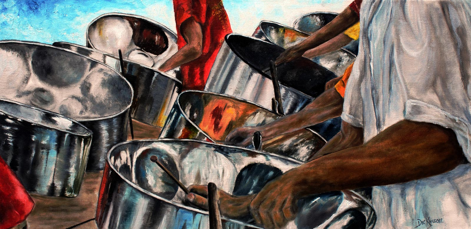 """Steal Drumming"", 30x16"