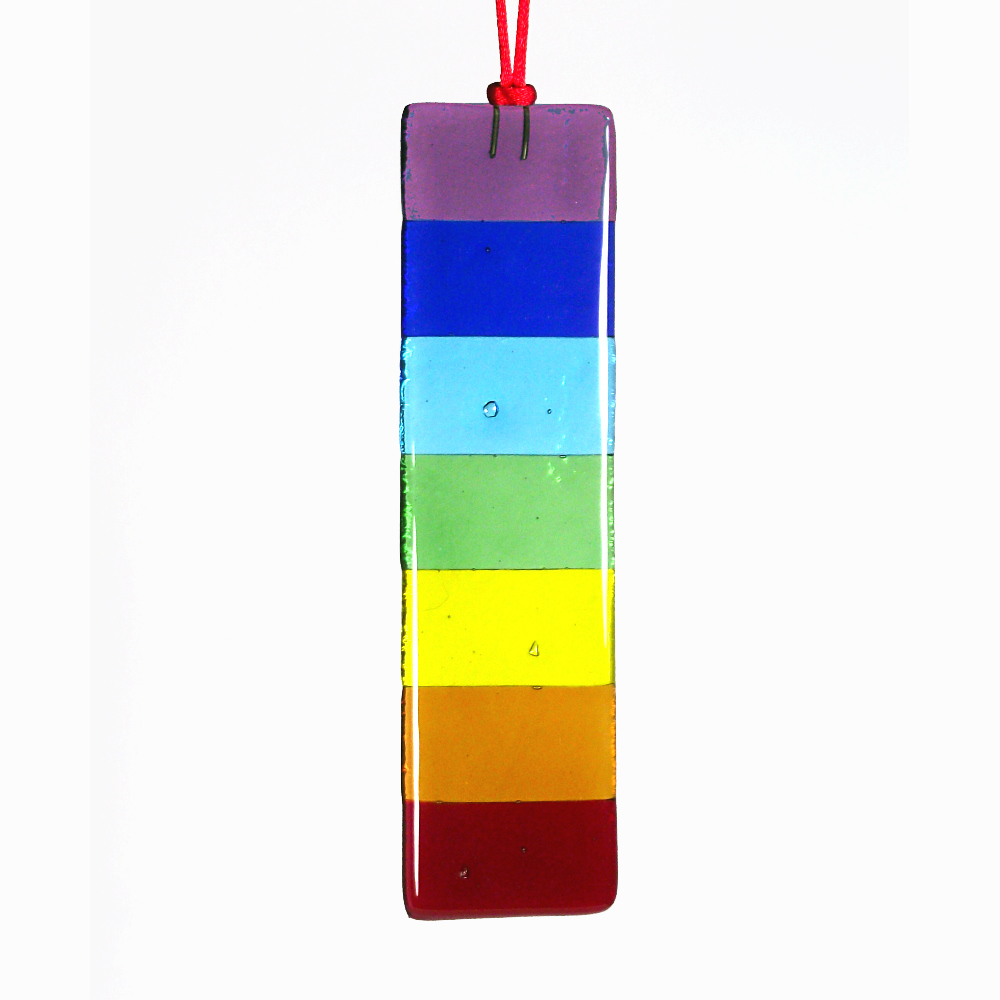 Rainbow / Chakra 'bar' fused-glass suncatcher
