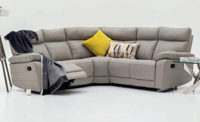 Sofas, leather feel, leatherette, Recliners in Leather