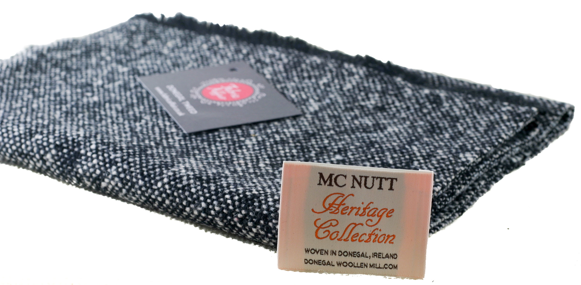 Donegal Tweed by Fabric Affair: Heritage Collection, Black and White.