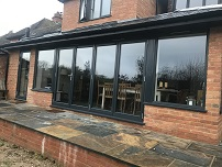Anthracite Grey with side windows into extension
