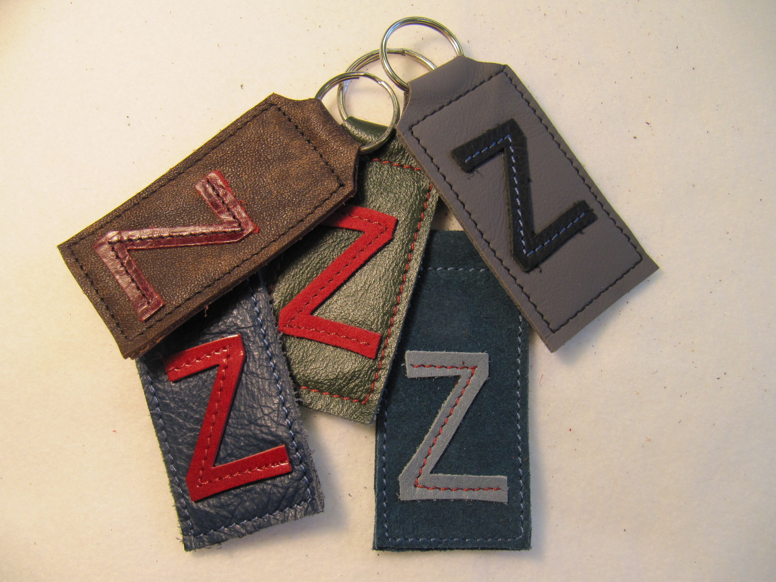 Initial leather key fobs  'Z'