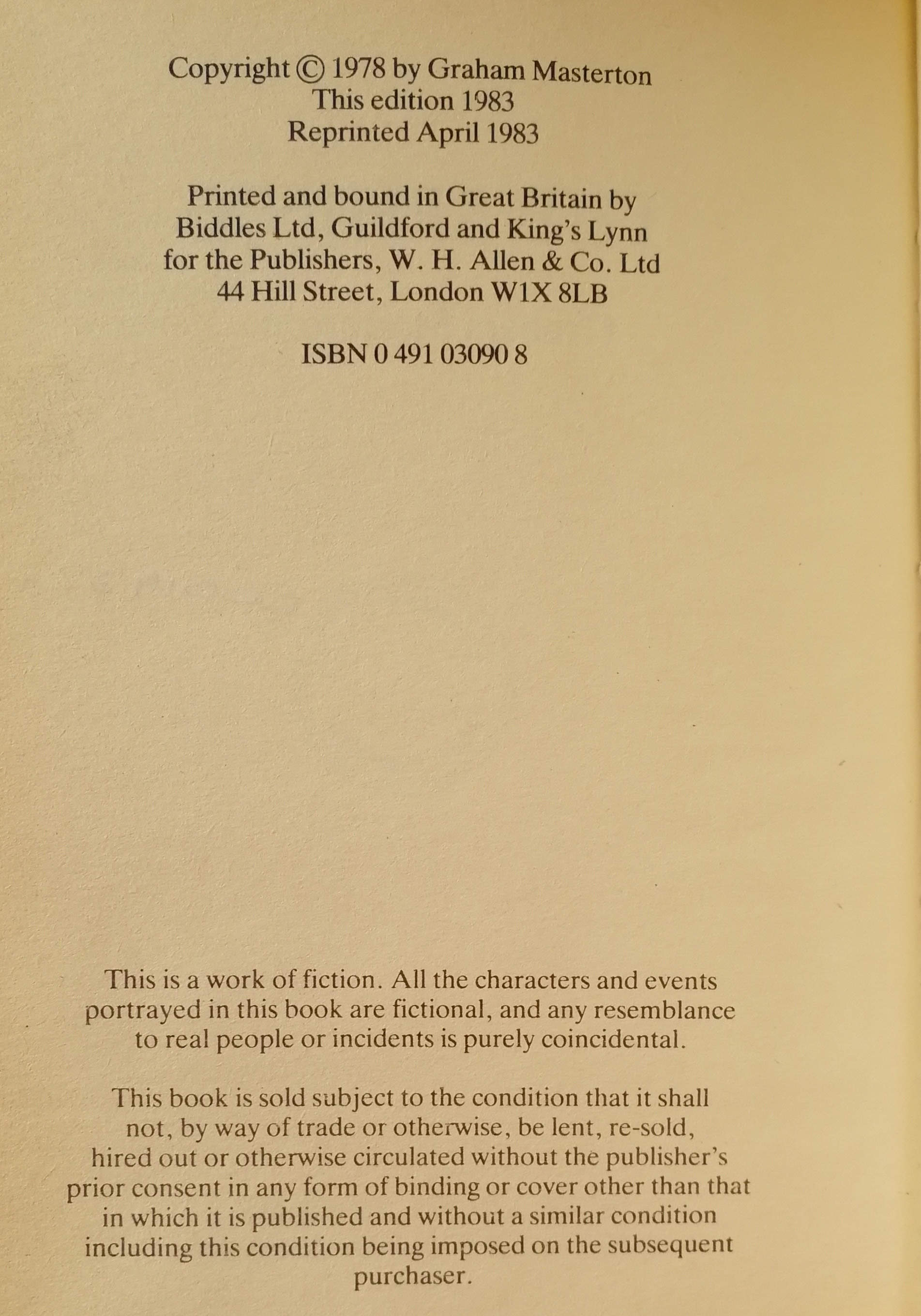 The Sphinx UK First Edition (Reprint)