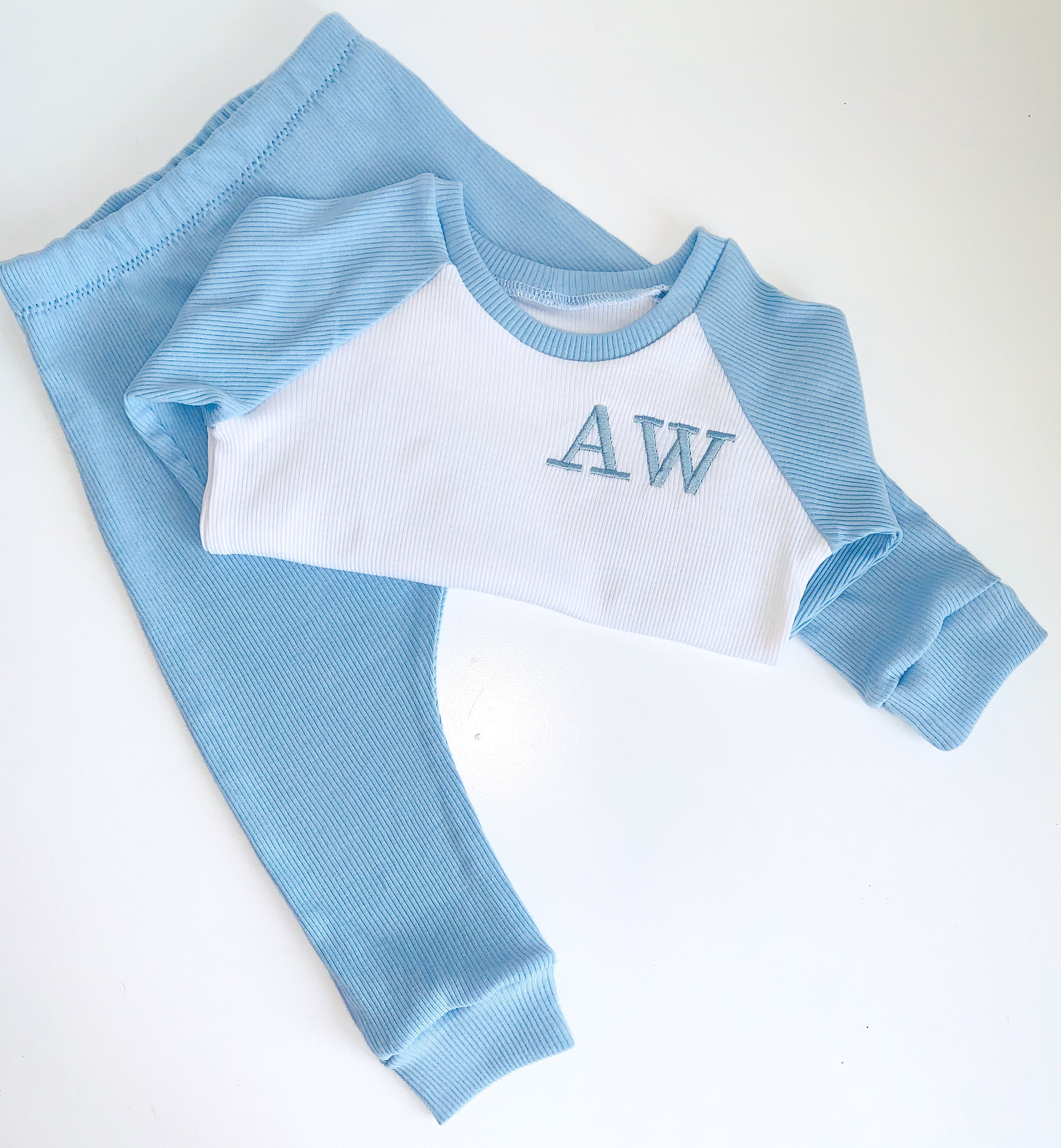 Blue Raglan Set
